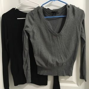 H and M V neck sweaters